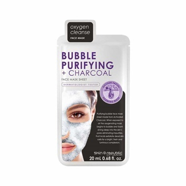 Skin Republic Skin Republic Bubble Purifying + Charcoal Mask Sheet 20ml Renksiz